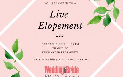 Live Elopement – October Bridal Expo